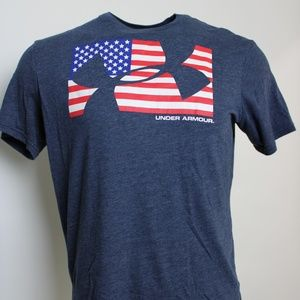 Under Armour American Flag Graphic T Med